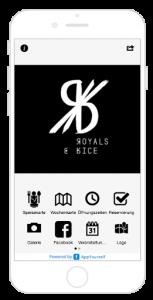 Royals & Rice App als Use Cases Optionen