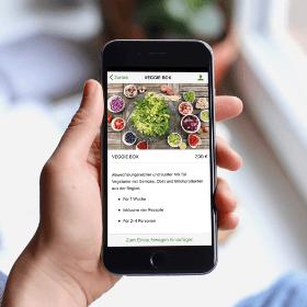 El módulo tienda en el creador de apps