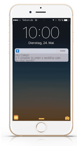 the chat widget and push notifications via connect app for ios