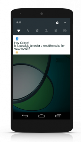 the chat widget and push notifications via connect app for android