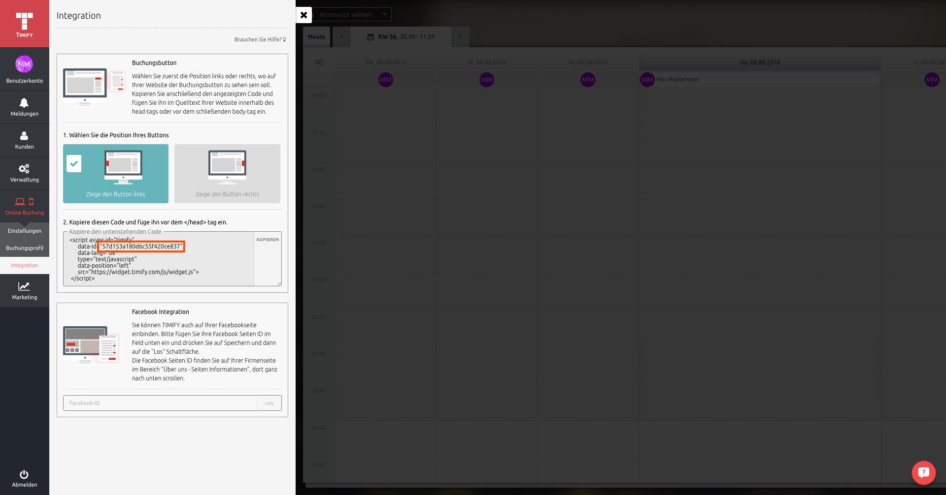 Timify Terminbuchung in deiner AppYourself App integrieren