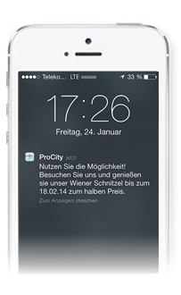 Push Nachricht auf dem Handy