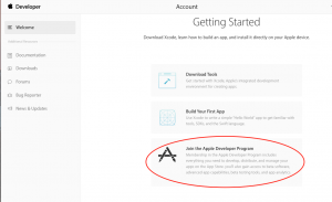 Getting started with the Apple Developer Account