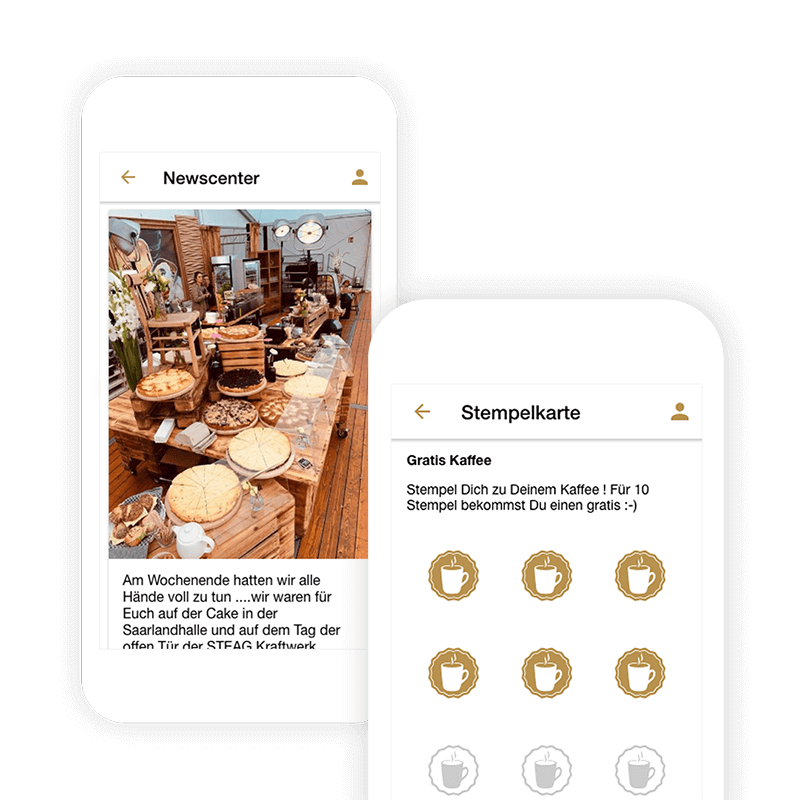Combine your own table reservation app with your stamp card and news center