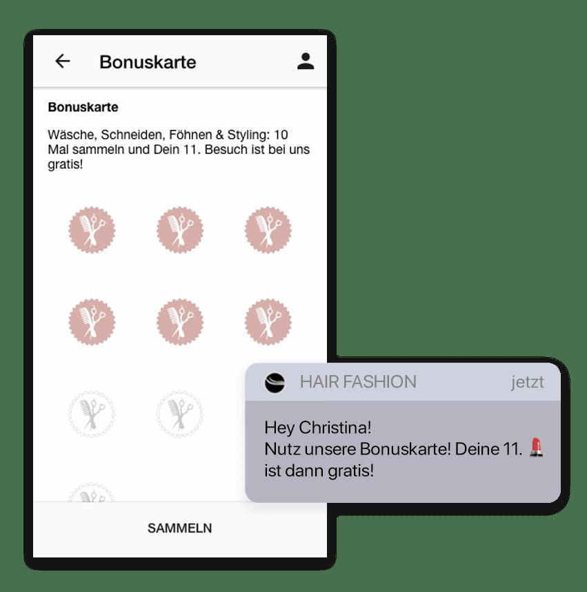 Du kannst auch Deine eigene Terminbuchung App mit der Stempelkarte verbinden