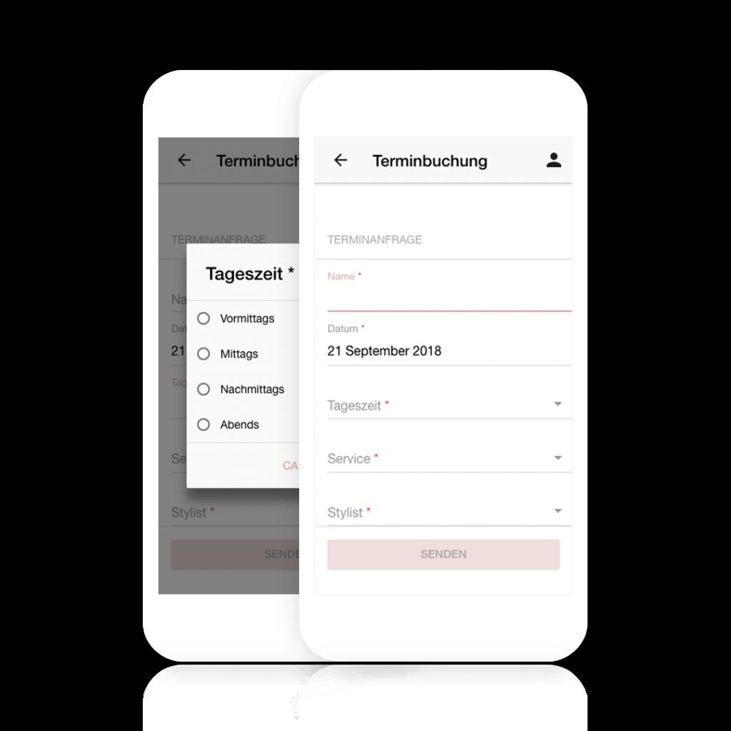 Kunden können ihre Termine über Deine eigene Terminbuchung App buchen