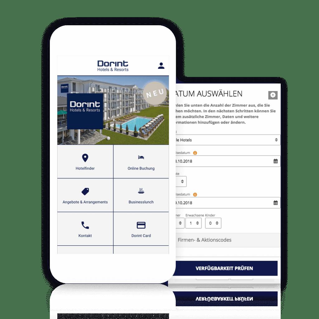 Zimmerbuchung über die eigene Hotelbuchung App von Dorint Hotels & Resorts