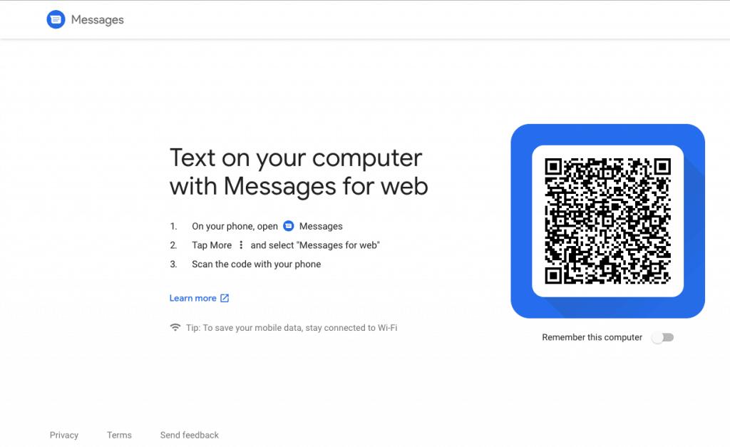 Google Messages als PWA auf dem Desktop verwenden