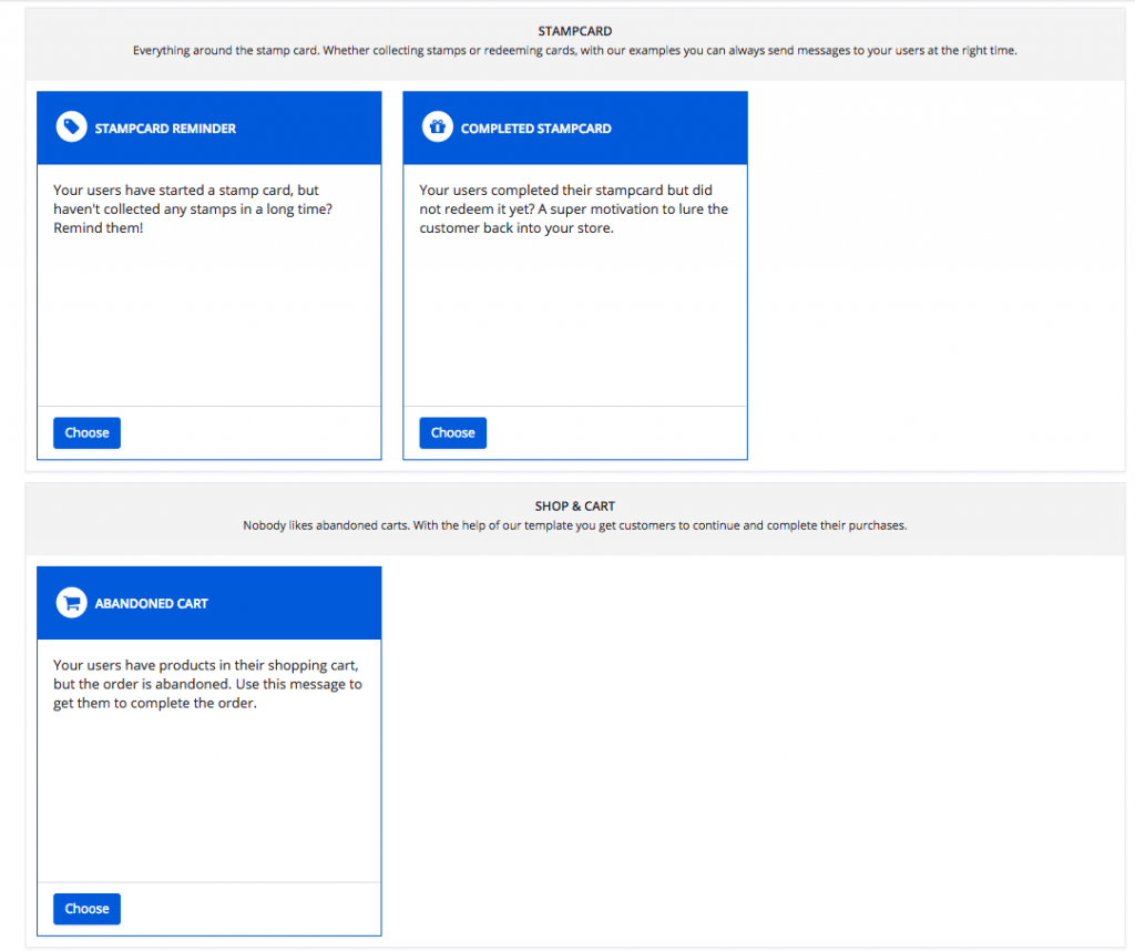 More templates for the marketing automation