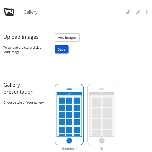 Present your products in the gallery module