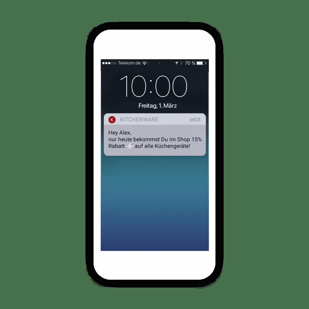 Chat- und Push Nachrichten über Deine Shopping App verschicken