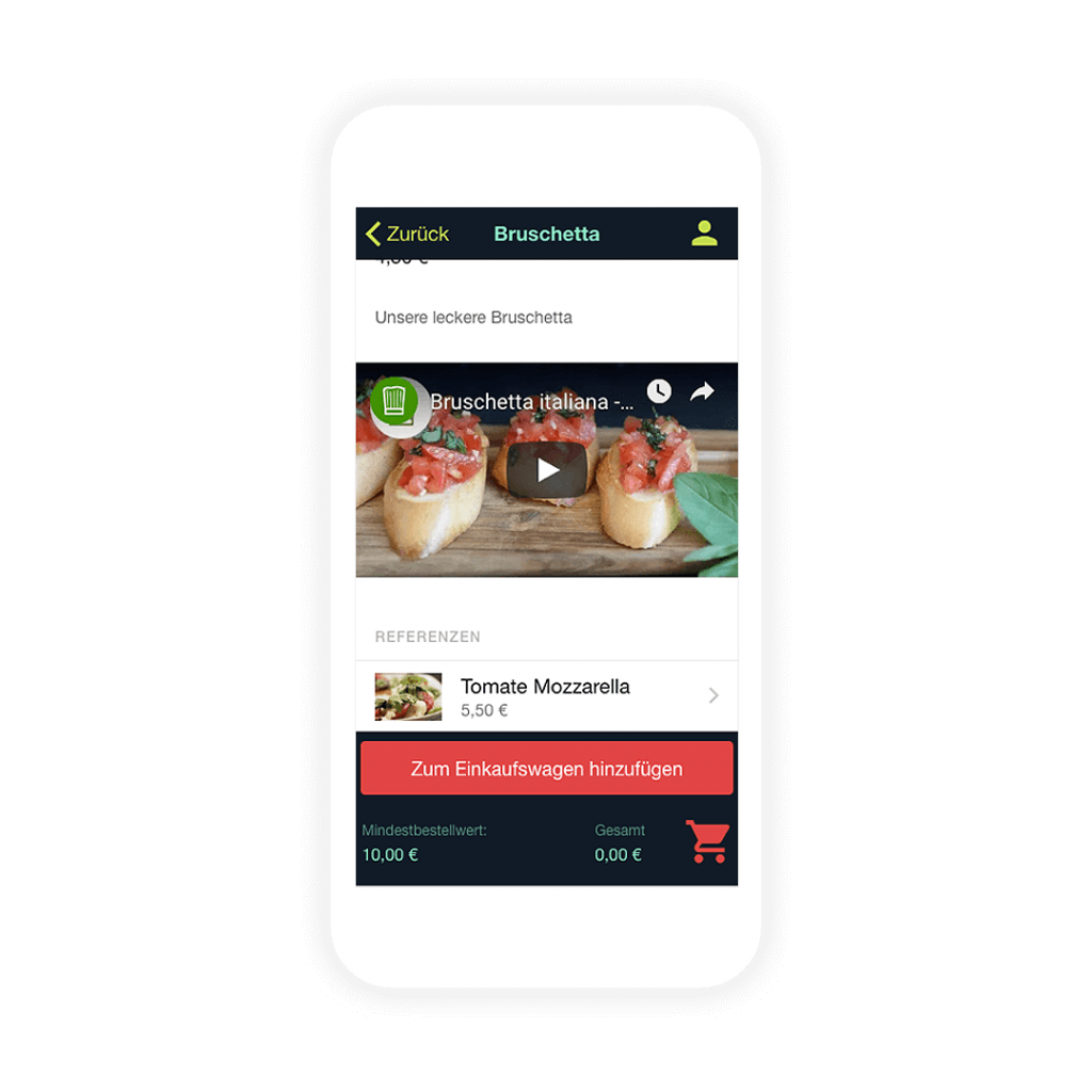 Use product videos and recommendations in your own shopping app