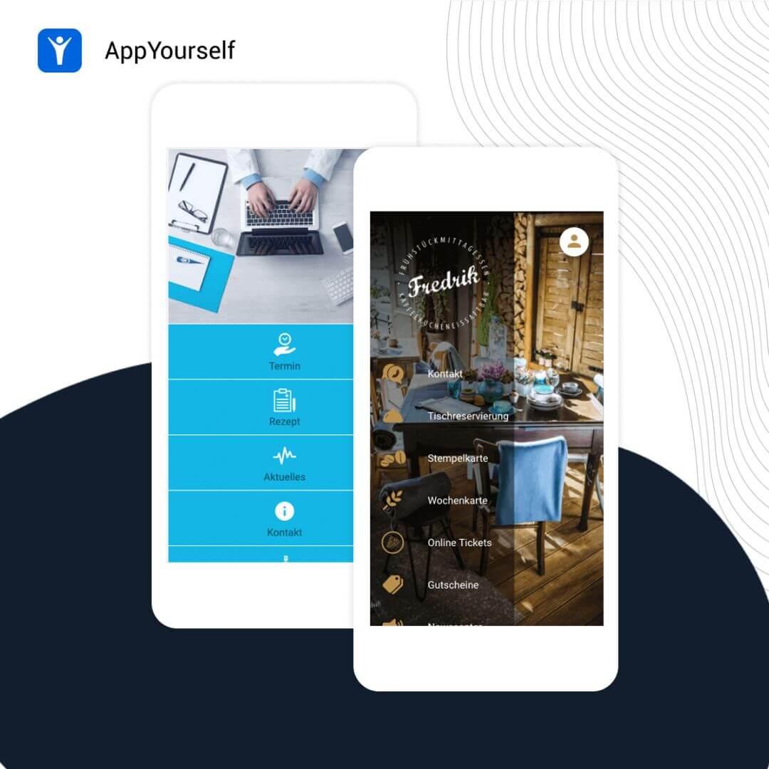 Das App Design Liste in zwei unterschiedlichen Varianten