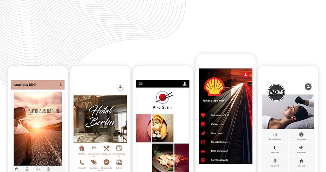 All our options for a beautiful app design