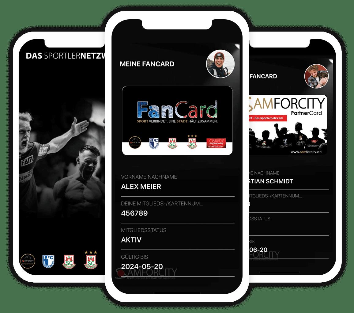 Digitale Mitgliedskarte - Individuelle App Entwicklung für Samforcity