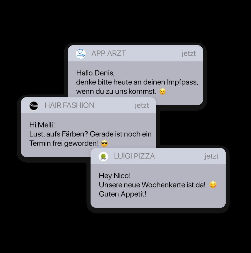 Push-Nachrichten lassen sich für diverse Branchen verwenden