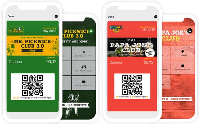 Der digitale Mitgliedsclub mit Wallet Karten