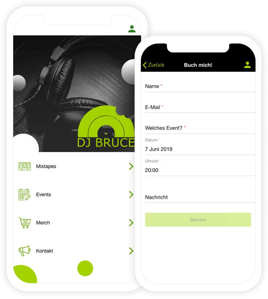 Die eigene DJ App zur Buchung von Events und Veranstaltungen