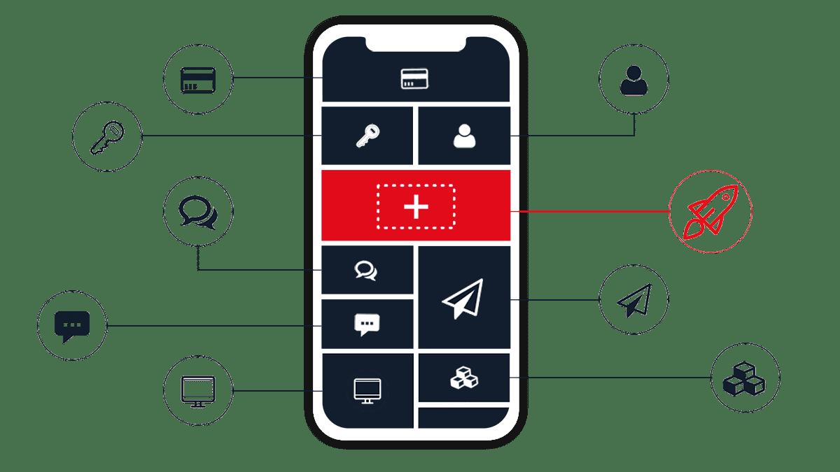 Die App Plattform von AppYourself für die smarte App Entwicklung