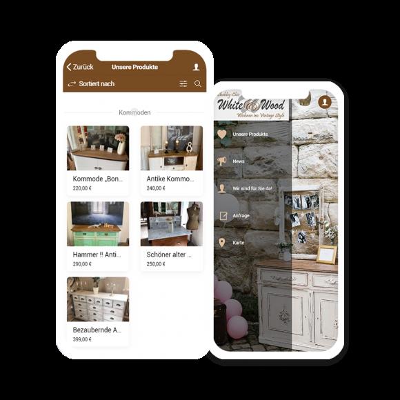 Shop App von White & Wood