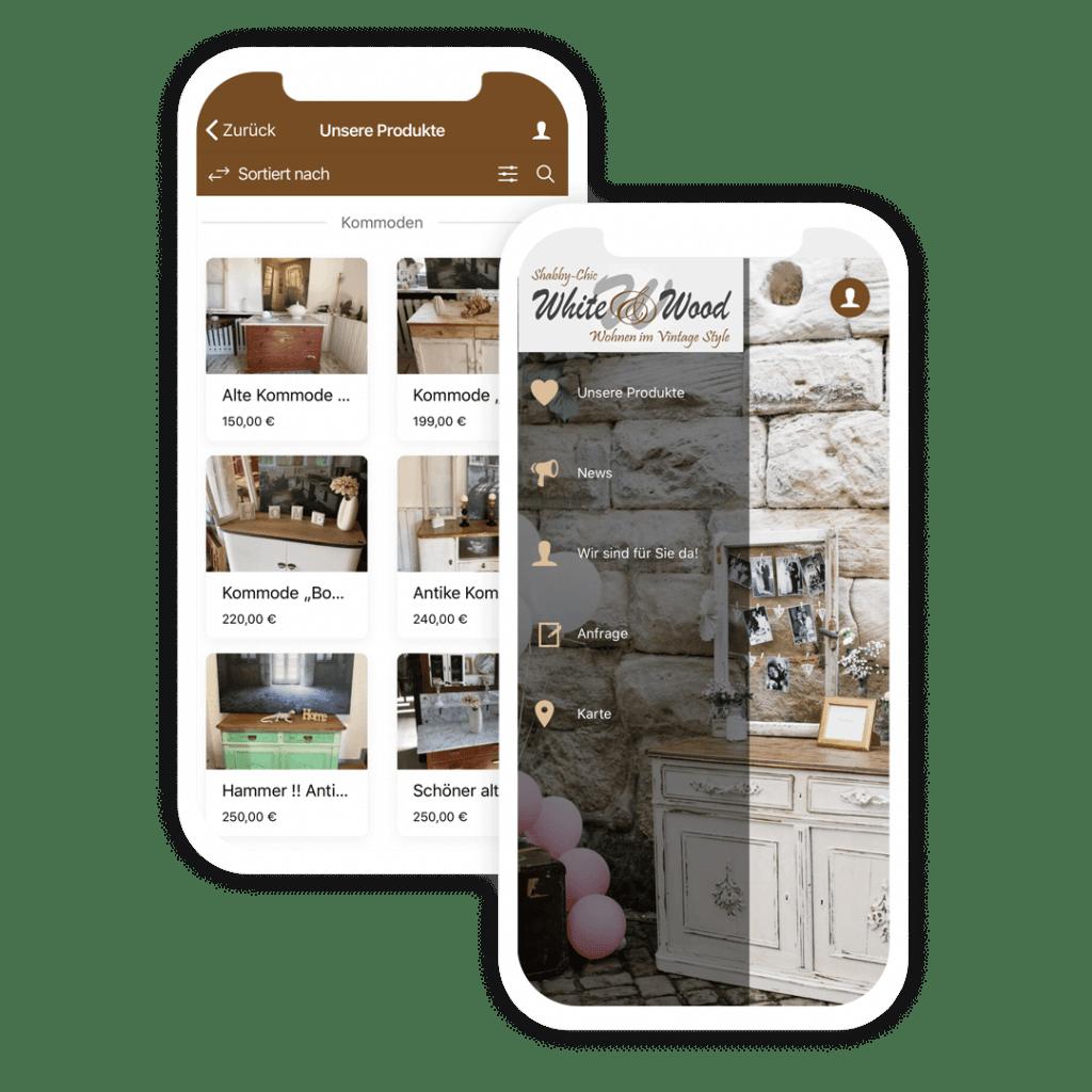 Beispiel Apps als Shop App