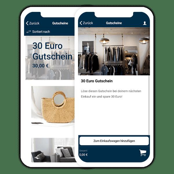 Auch Gutscheine kannst Du per Shop App verkaufen