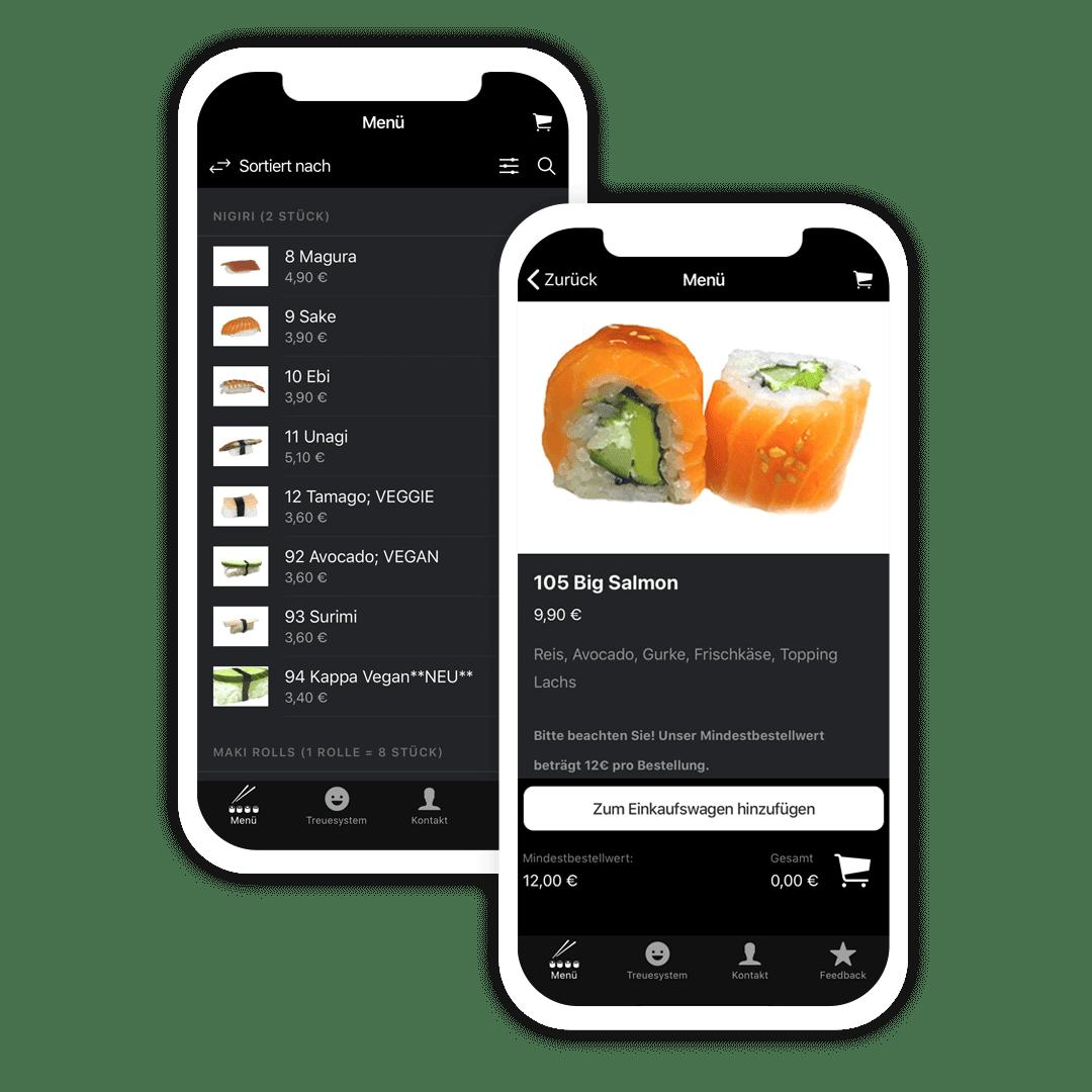 Lieferservice-App für Restaurants und Gastronomie