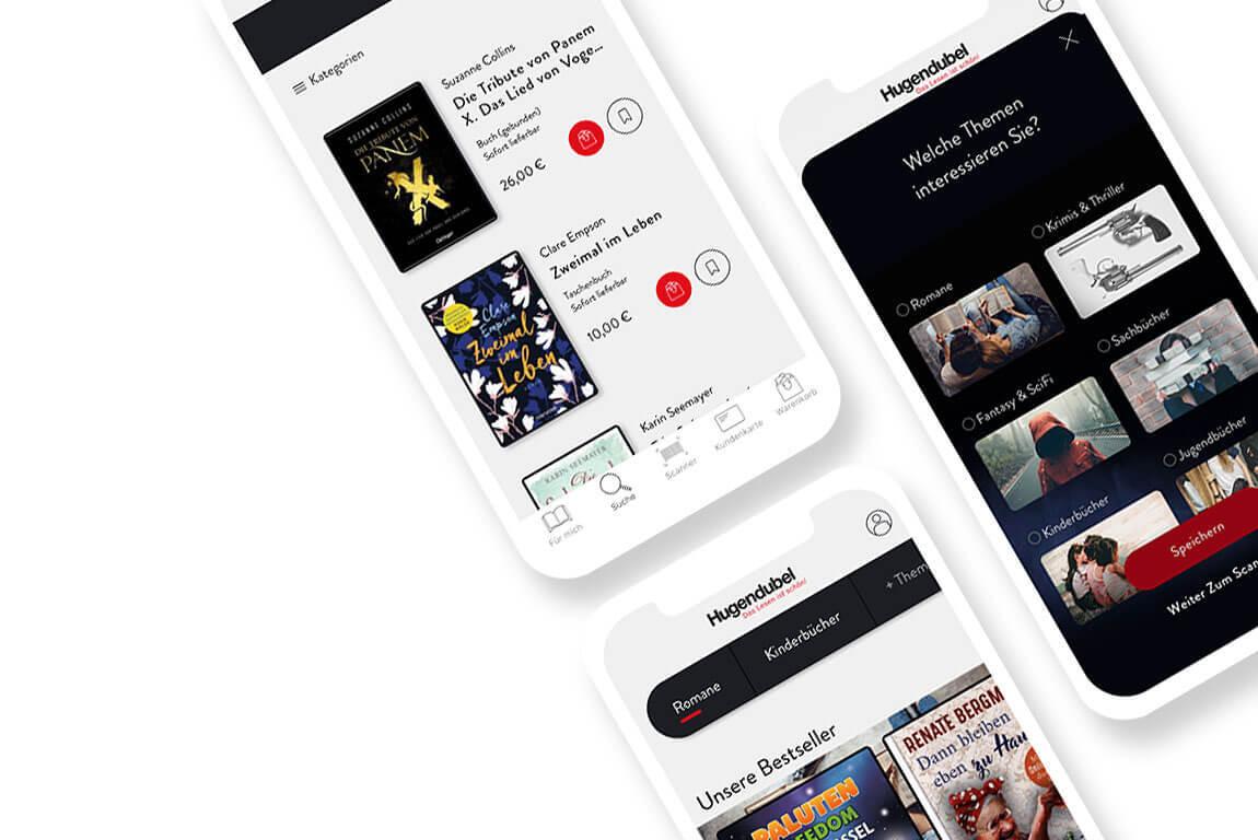 Gemeinsam mit Hugendubel wurde die neue Hugendubel App entwickelt