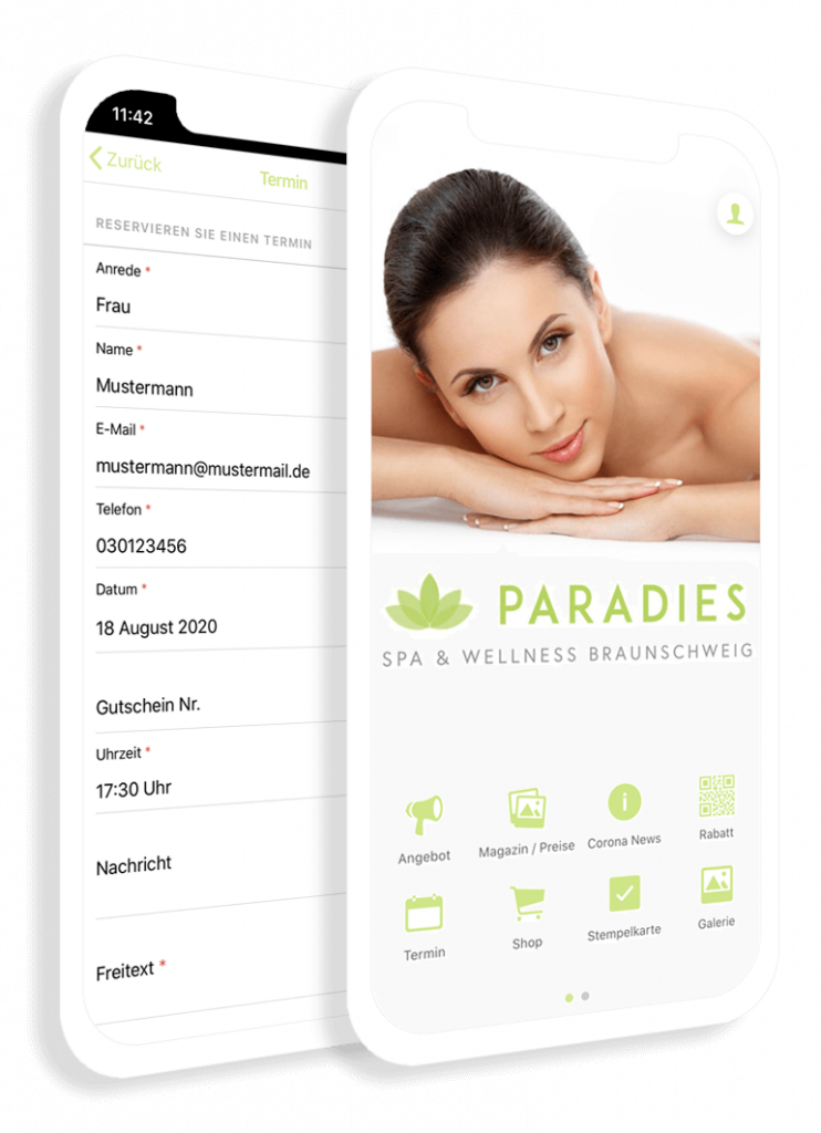 The beauty app for the wellness, spa and cosmetics industries