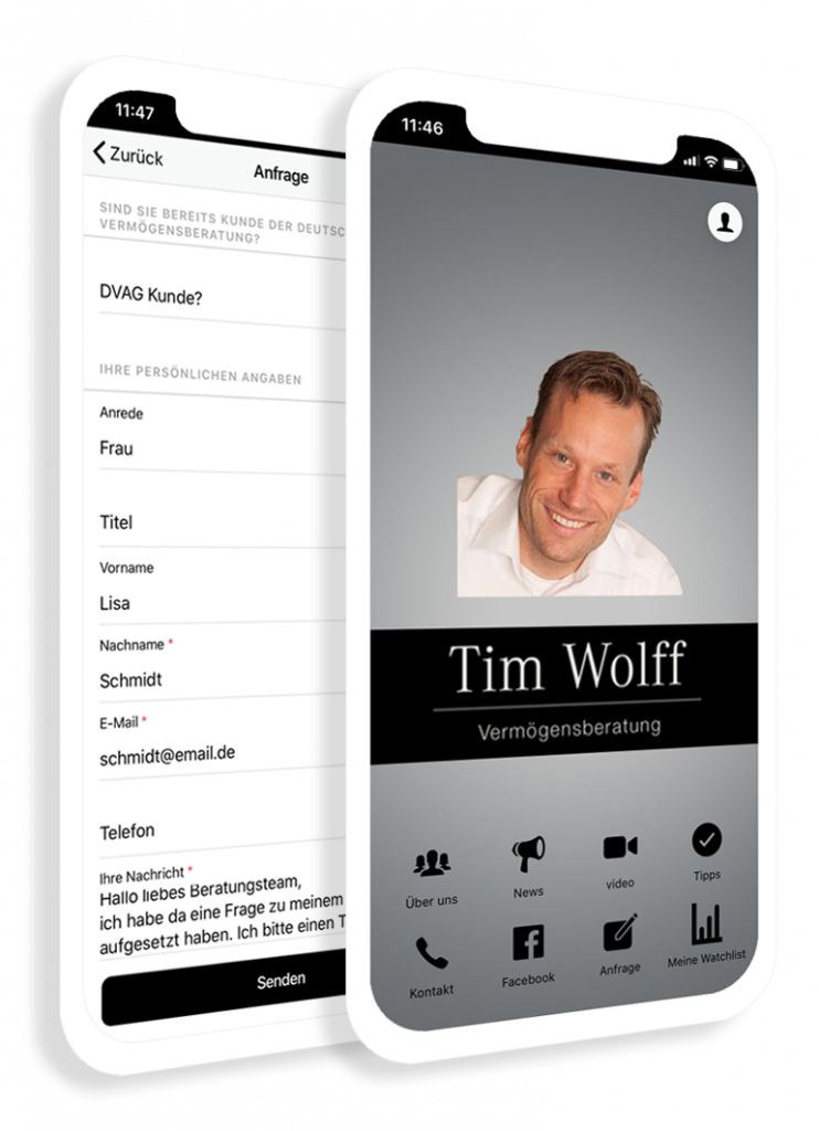 The service app for the consulting, services and service industries