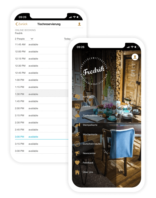 The table reservation app of Fredrik