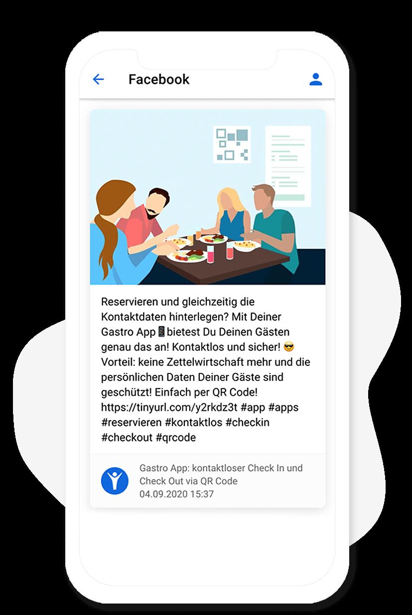 Das Facebook Modul vom App Baukasten