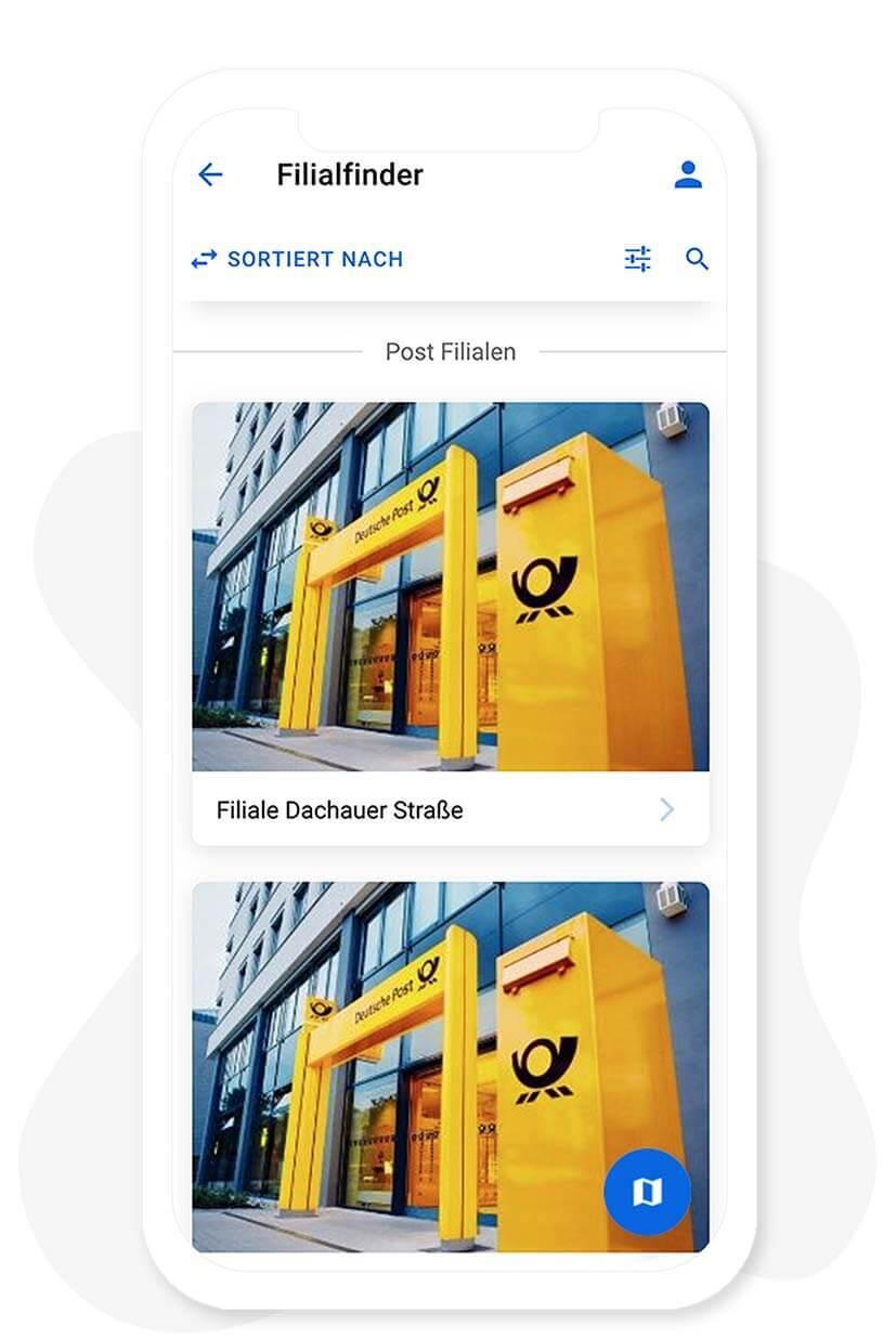 Das Filialfinder Modul vom App Baukasten
