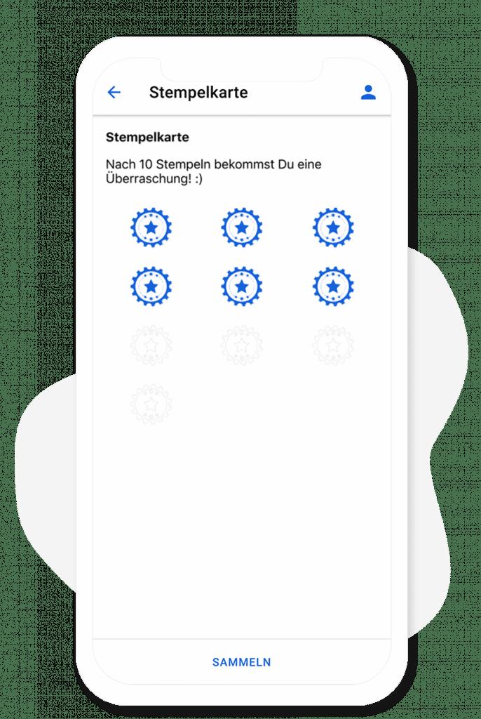 Das Stempelkarten Modul vom App Baukasten
