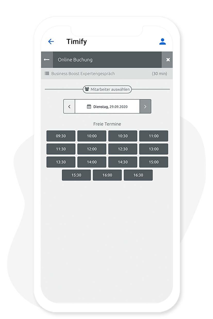 Die externe Terminbuchung via App Baukasten