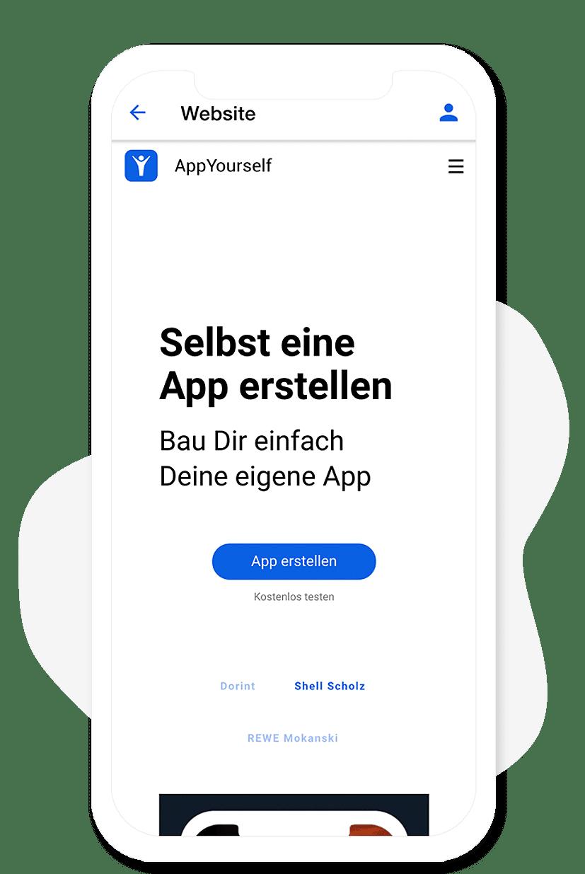 Das Website Modul vom App Baukasten
