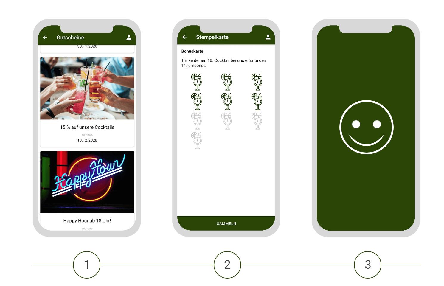 Digitale Gutscheine als Teil der Gastro App