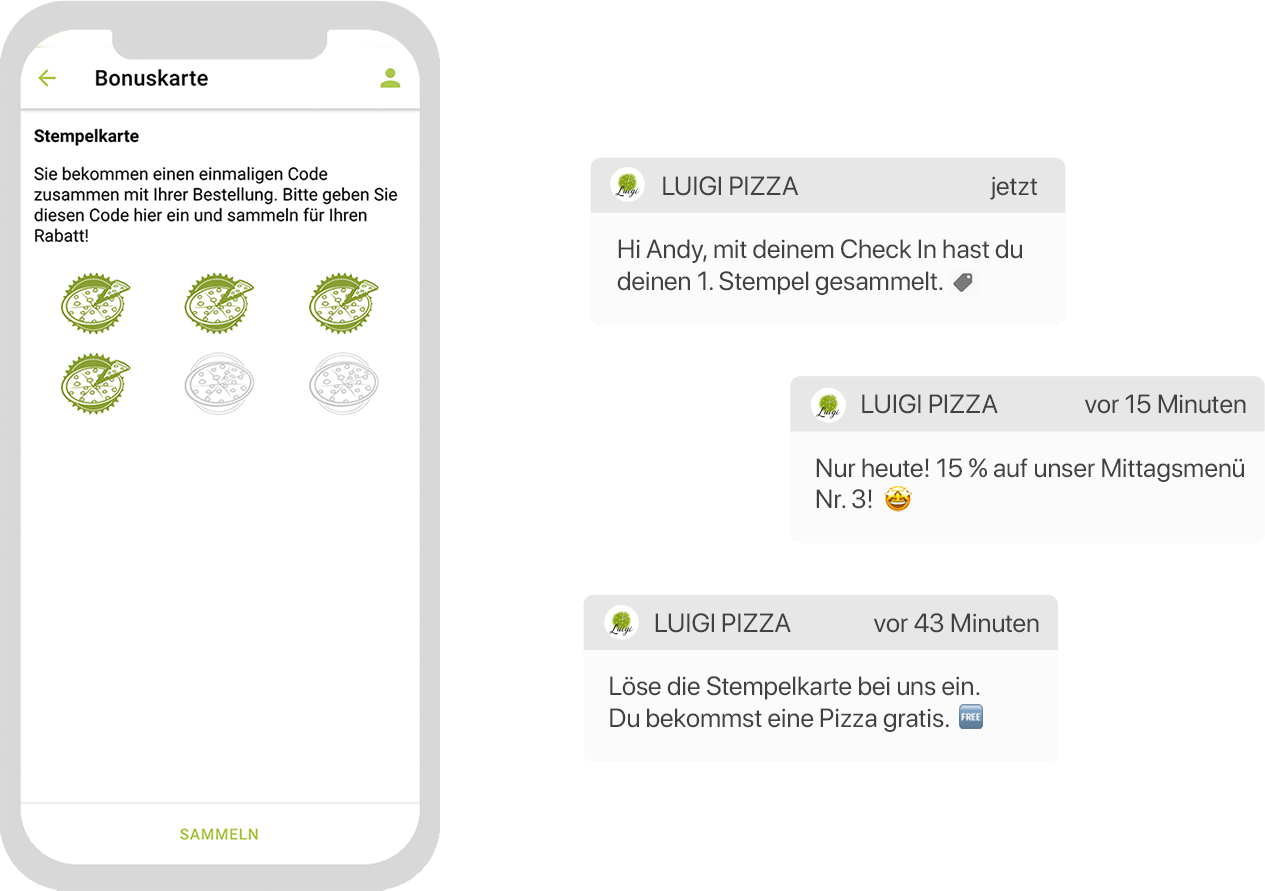 Digitaler Check-in: verbinden mit Bonuskarte