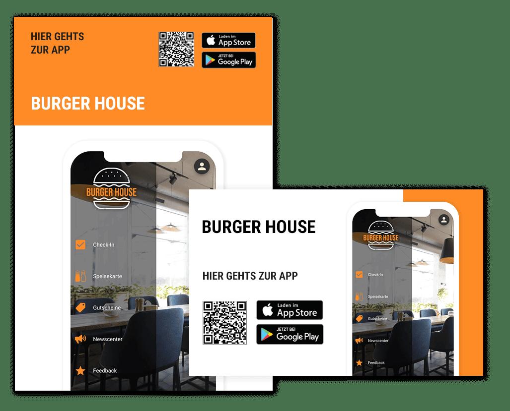 Gastro App Promo Paket - Werbematerialien um Deine Gastro App zu promoten