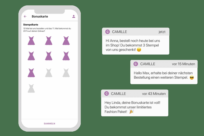 Die digitale Stempelkarte von der Retail App