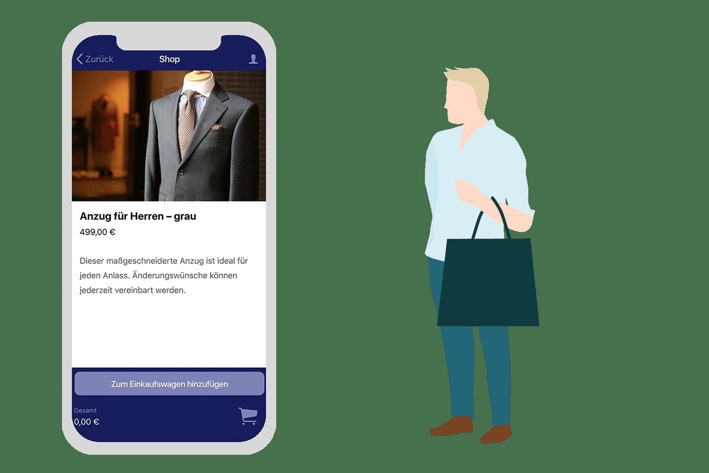 Das Shop & Collect Feature der Retail App