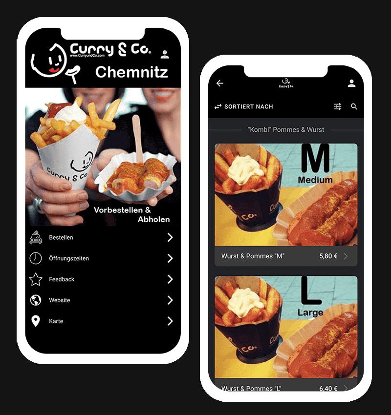 Curry & Co. Chemnitz-App für Selbstabholung