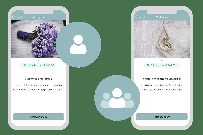 Digitale Gutscheine an alle oder ganz individuell an einen Nutzer verschicken