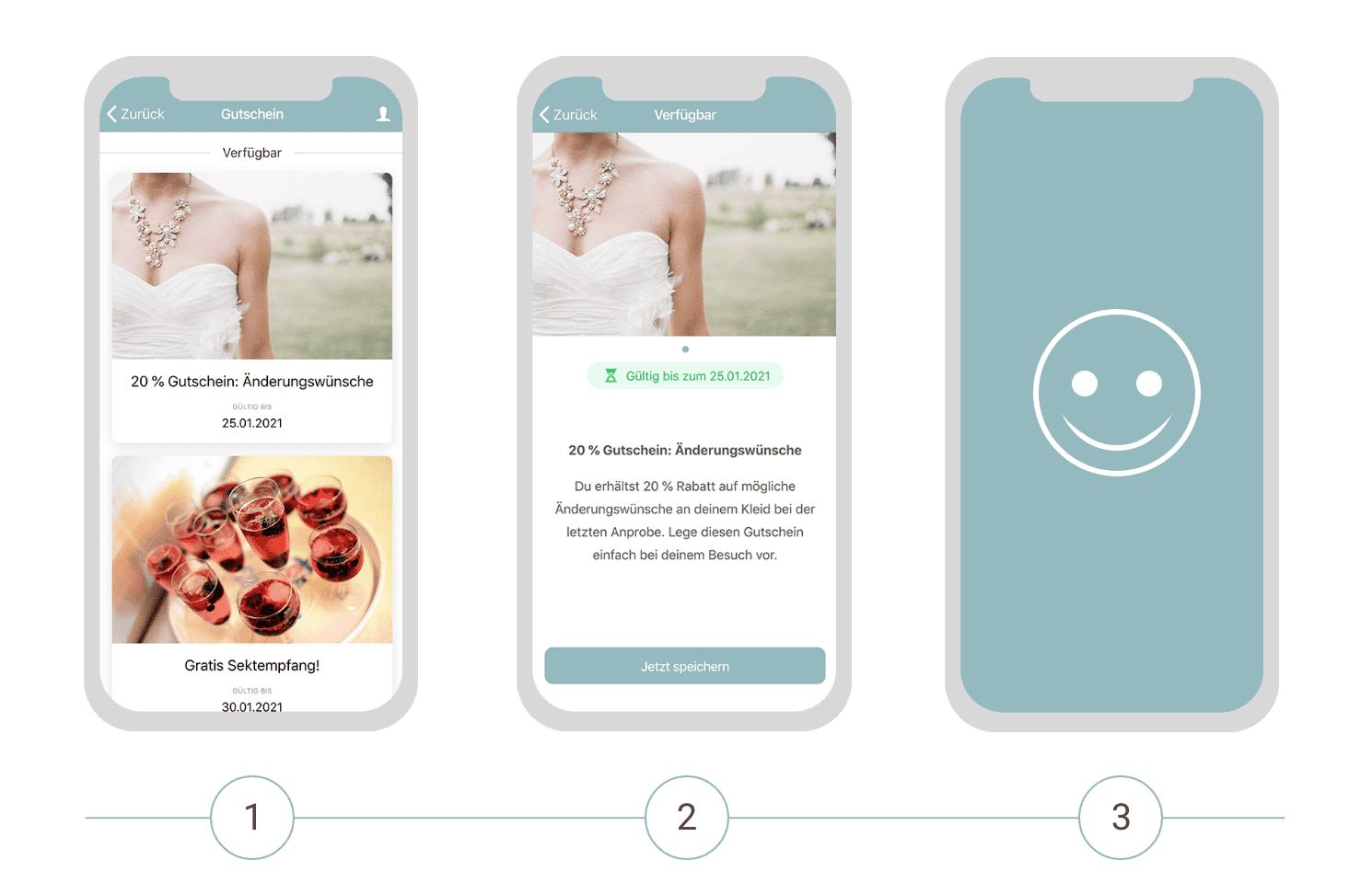 Digitale Gutscheine als Teil der Retail App