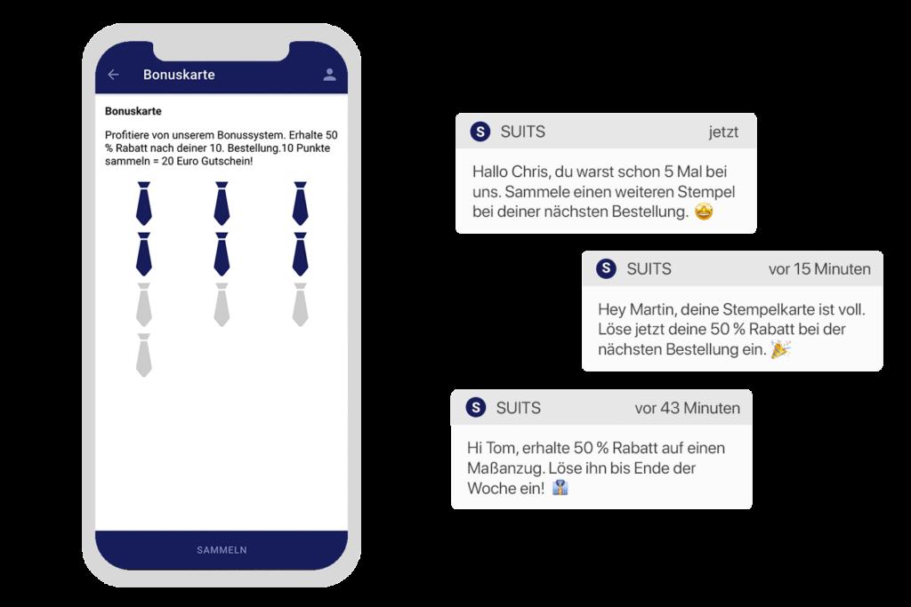 Shop & Collect Funktion mit der digitalen Stempelkarte verbinden
