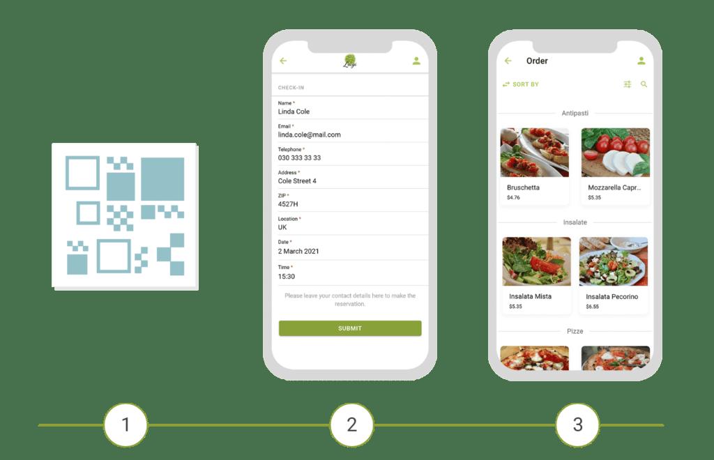 Digitalisation of the gastronomy via digital check-in
