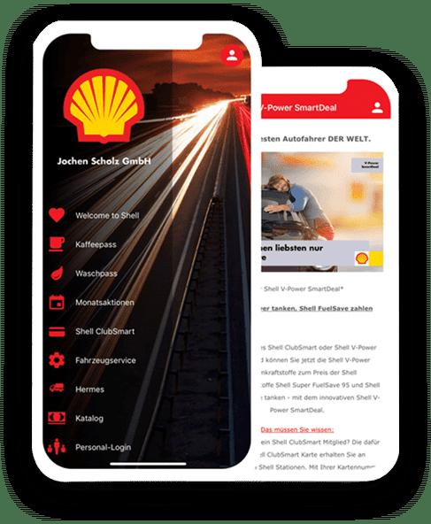 App erstellen: Shell Scholz ist mobil unterwegs!