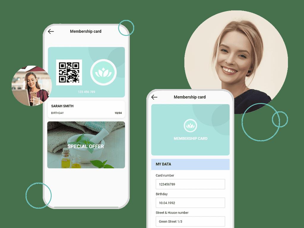 Digital customer card for more customer loyalty via app