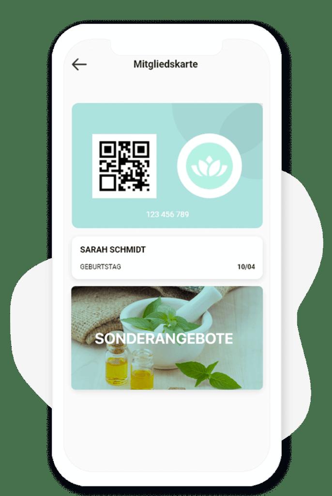 Die digitale Kundenkarte. Modul des App-Baukasten