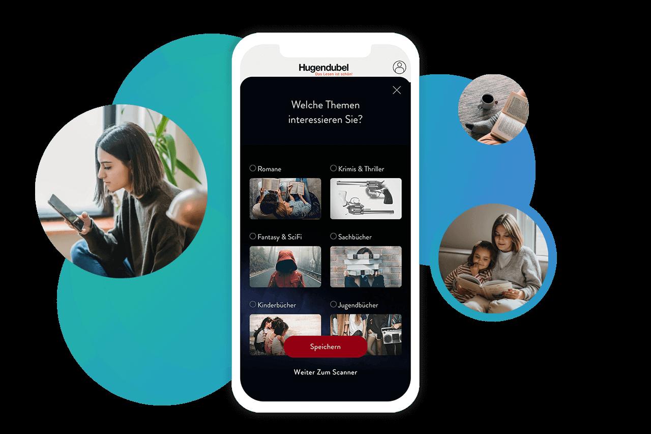 Die Story von AppYourself beinhaltet auch die individuelle Entwicklung am Beispiel der Hugendubel App